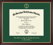 The University of North Carolina at Charlotte Diploma Frame - Gold Embossed Diploma Frame in Studio Gold