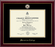 Moravian College Diploma Frame - Masterpiece Medallion Diploma Frame in Gallery