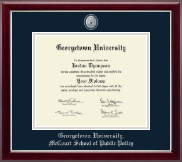 Georgetown University Diploma Frame - Pewter Masterpiece Medallion Diploma Frame in Gallery Silver
