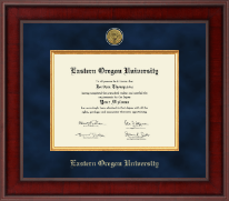 Eastern Oregon University Diploma Frame - Presidential Gold Engraved Diploma Frame in Jefferson