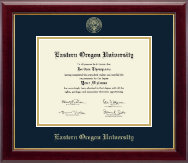 Eastern Oregon University Diploma Frame - Gold Embossed Diploma Frame in Gallery
