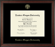 Eastern Oregon University Diploma Frame - Gold Embossed Diploma Frame in Studio