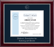 National Association for Catering and Events Certificate Frame - Silver Embossed Certificate Frame in Gallery Silver