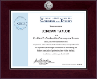 National Association for Catering and Events Certificate Frame - Century Silver Engraved Certificate Frame in Cordova