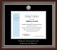 National Association for Catering and Events Certificate Frame - Silver Engraved Medallion Certificate Frame in Devonshire