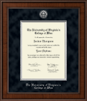 The University of Virginia's College at Wise Diploma Frame - Presidential Silver Engraved Diploma Frame in Madison