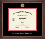 St. Cloud State University Diploma Frame - Masterpiece Medallion Diploma Frame in Kensington Gold