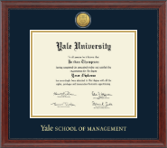 Yale University Diploma Frame - Gold Engraved Medallion Diploma Frame in Signature