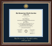 University of North Carolina Chapel Hill Diploma Frame - Gold Engraved Medallion Diploma Frame in Hampshire