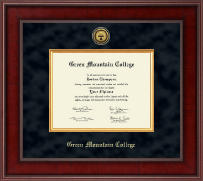 Green Mountain College Diploma Frame - Presidential Gold Engraved Diploma Frame in Jefferson