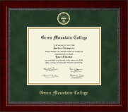 Green Mountain College Diploma Frame - Gold Embossed Diploma Frame in Sutton