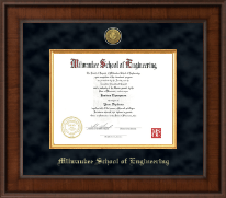 Milwaukee School of Engineering Diploma Frame - Presidential Gold Engraved Diploma Frame in Madison