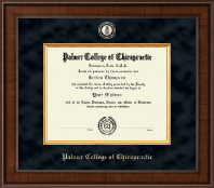 Palmer College of Chiropractic Iowa Diploma Frame - Presidential Masterpiece Diploma Frame in Madison
