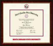 North Carolina State University Diploma Frame - Dimensions Diploma Frame in Murano