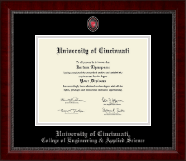 University of Cincinnati Diploma Frame - Masterpiece Medallion Diploma Frame in Sutton
