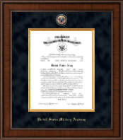 United States Military Academy Certificate Frame - Presidential Masterpiece Commission Certificate Frame in Madison