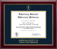 American Society of Addiction Medicine Certificate Frame - Gold Embossed Certificate Frame in Gallery