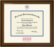 Fairleigh Dickinson University Diploma Frame - Dimensions Diploma Frame in Westwood