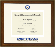 Embry-Riddle Aeronautical University Diploma Frame - Dimensions Diploma Frame in Westwood