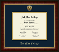Del Mar College Diploma Frame - Gold Engraved Medallion Diploma Frame in Murano