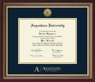 Augustana University Diploma Frame - Gold Engraved Medallion Diploma Frame in Hampshire