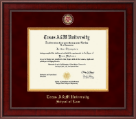 Texas A M University Presidential Masterpiece Diploma Frame In Jefferson Item 286405 Taw From Texas A M University