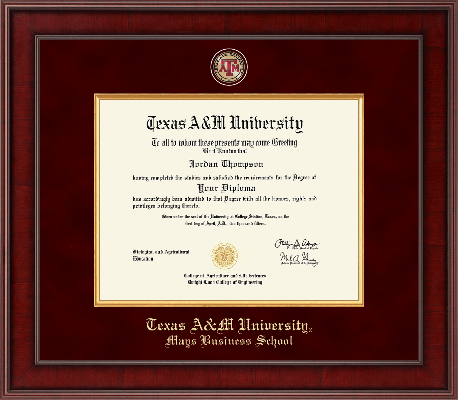Texas A&M University Presidential Masterpiece Diploma Frame in ...