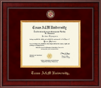 Texas A&M University Diploma Frame - Presidential Masterpiece Diploma Frame in Jefferson