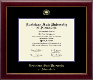 Louisiana State University of Alexandria Diploma Frame - Gold Embossed Diploma Frame in Gallery