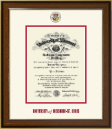 University of Missouri Saint Louis Diploma Frame - Dimensions Diploma Frame in Westwood