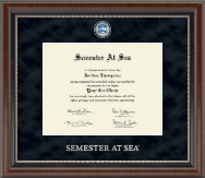 Semester At Sea Certificate Frame - Regal Edition Certificate Frame in Chateau