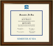 Semester At Sea Certificate Frame - Dimensions Certificate Frame in Lancaster