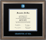 Semester At Sea Certificate Frame - Dimensions Certificate Frame in Easton