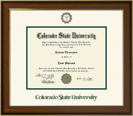 Colorado State University Diploma Frames Church Hill