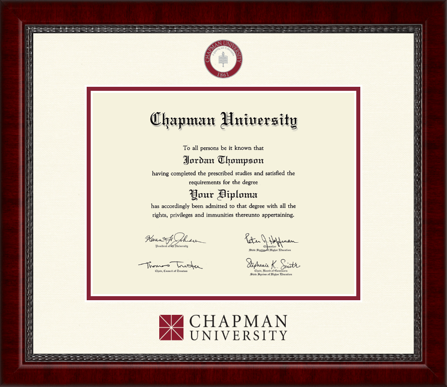 Chapman University Dimensions Diploma Frame in Sutton - Item #286507