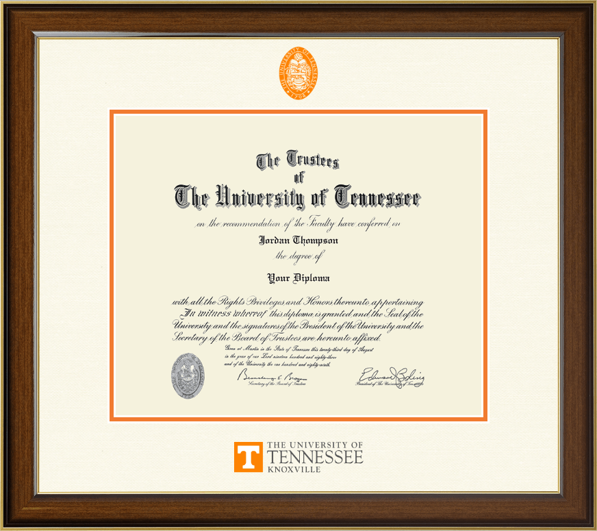 The University Of Tennessee Knoxville Dimensions Diploma