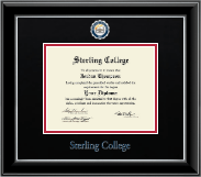 Sterling College Diploma Frame - Dimensions Diploma Frame in Onyx Silver