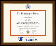 University of Florida Diploma Frame - Dimensions Diploma Frame in Westwood