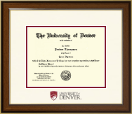 University of Denver Diploma Frame - Dimensions Diploma Frame in Westwood