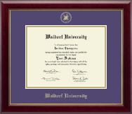 Waldorf University Diploma Frame - Gold Embossed Diploma Frame in Gallery