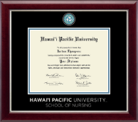 Hawaii Pacific University Diploma Frame - Masterpiece Medallion Diploma Frame in Gallery Silver