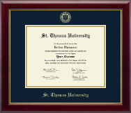 St. Thomas University Diploma Frame - Gold Embossed Diploma Frame in Gallery