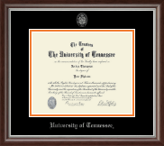The University of Tennessee Knoxville Diploma Frame - Silver Embossed Diploma Frame in Devonshire