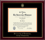 The University of Tennessee Knoxville Diploma Frame - Gold Embossed Diploma Frame in Gallery