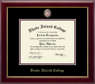 Rhode Island College Diploma Frame - Masterpiece Medallion Diploma Frame in Gallery
