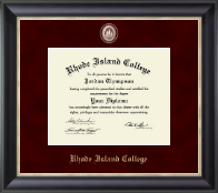 Rhode Island College Diploma Frame - Regal Edition Diploma Frame in Noir