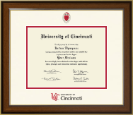 University of Cincinnati Diploma Frame - Dimensions Diploma Frame in Westwood