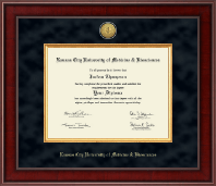 Kansas City University of Medicine and Biosciences Diploma Frame - Presidential Gold Engraved Diploma Frame in Jefferson