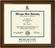Michigan State University Diploma Frame - Dimensions Diploma Frame in Westwood