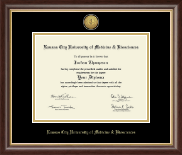 Kansas City University of Medicine and Biosciences Diploma Frame - Gold Engraved Medallion Diploma Frame in Hampshire